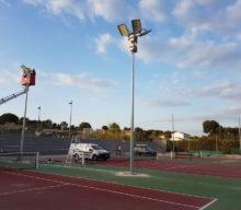 Réalisation de l'éclairage du Tennis Club Saint Cyrien