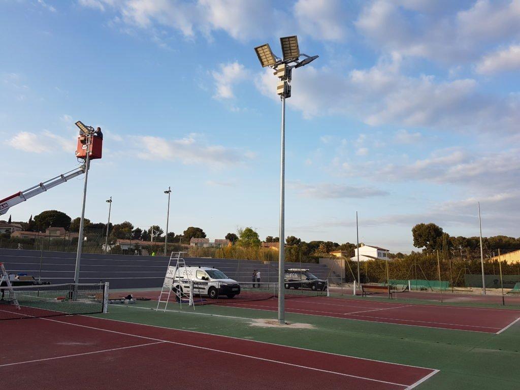 Eclairage court de tennis