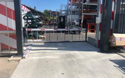 Installation barrière levante de drive